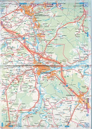 Карта дороги Москва Рязань.