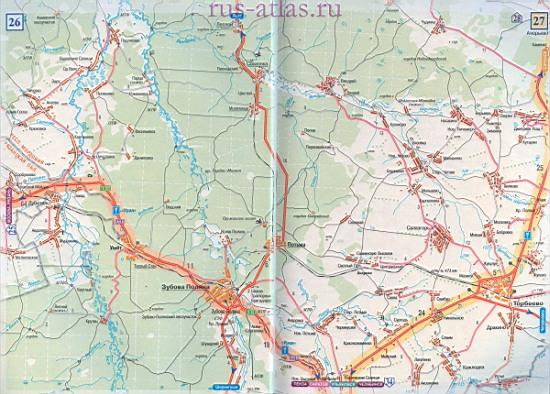Карта дороги Рязань - Зубова
