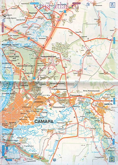 Карта дороги Самара Бузулук. Крупномасштабная карта ...: http://map-auto.ru/1386607.html