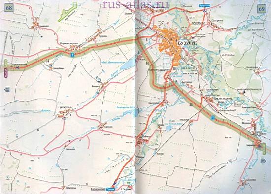 Карта дороги Самара Бузулук.