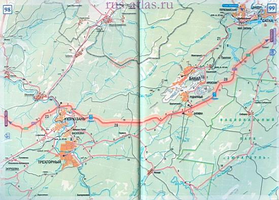 Карта дороги Юрюзань