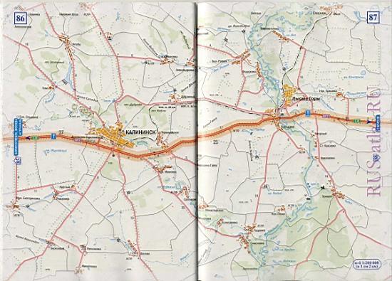 схема автодороги М6 Е38 от