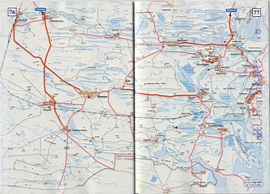 Карта дороги от Астрахани до