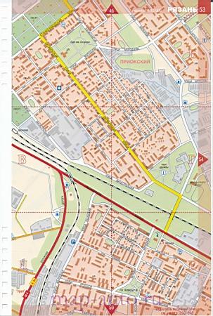Карта Рязани. Большая