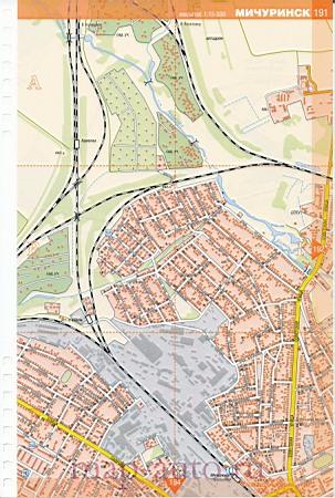Карта города мичуринск тамбовской