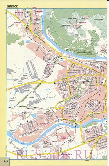 Карта Витебска. Большая