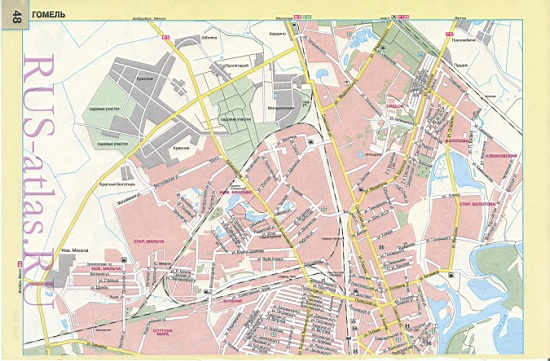 Карта Гомеля. Детальная карта