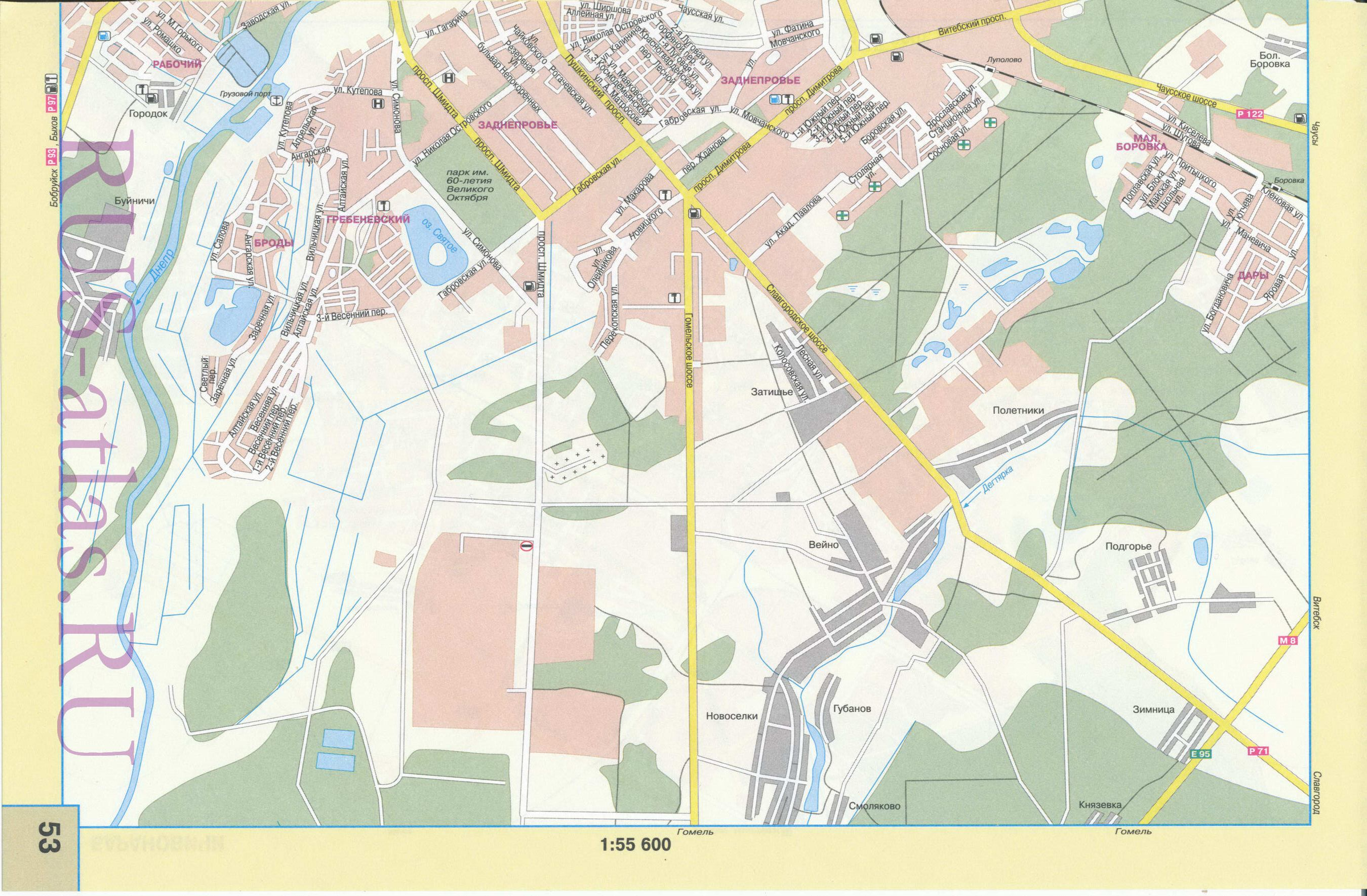 Карта магилева
