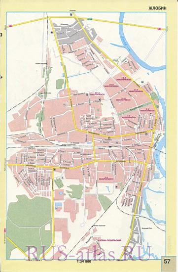 Карта Жлобин. Подробная карта улиц города Жлобин, Белоруссия: http://map-auto.ru/1426685.html