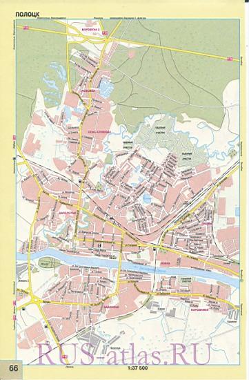 Подробная Карта Пинска