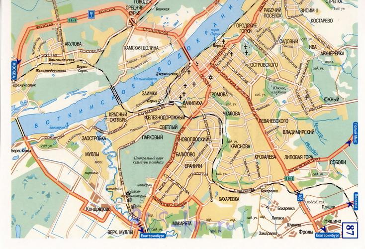 Пермь карта города