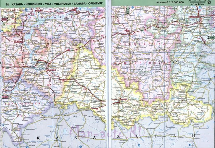 Подробная карта авто дорог
