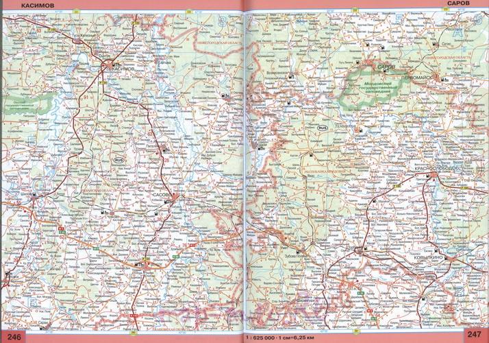 Карта Мордовии. Большая подробная карта Мордовии ...