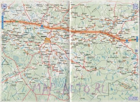 Карта дороги ржев западная двина