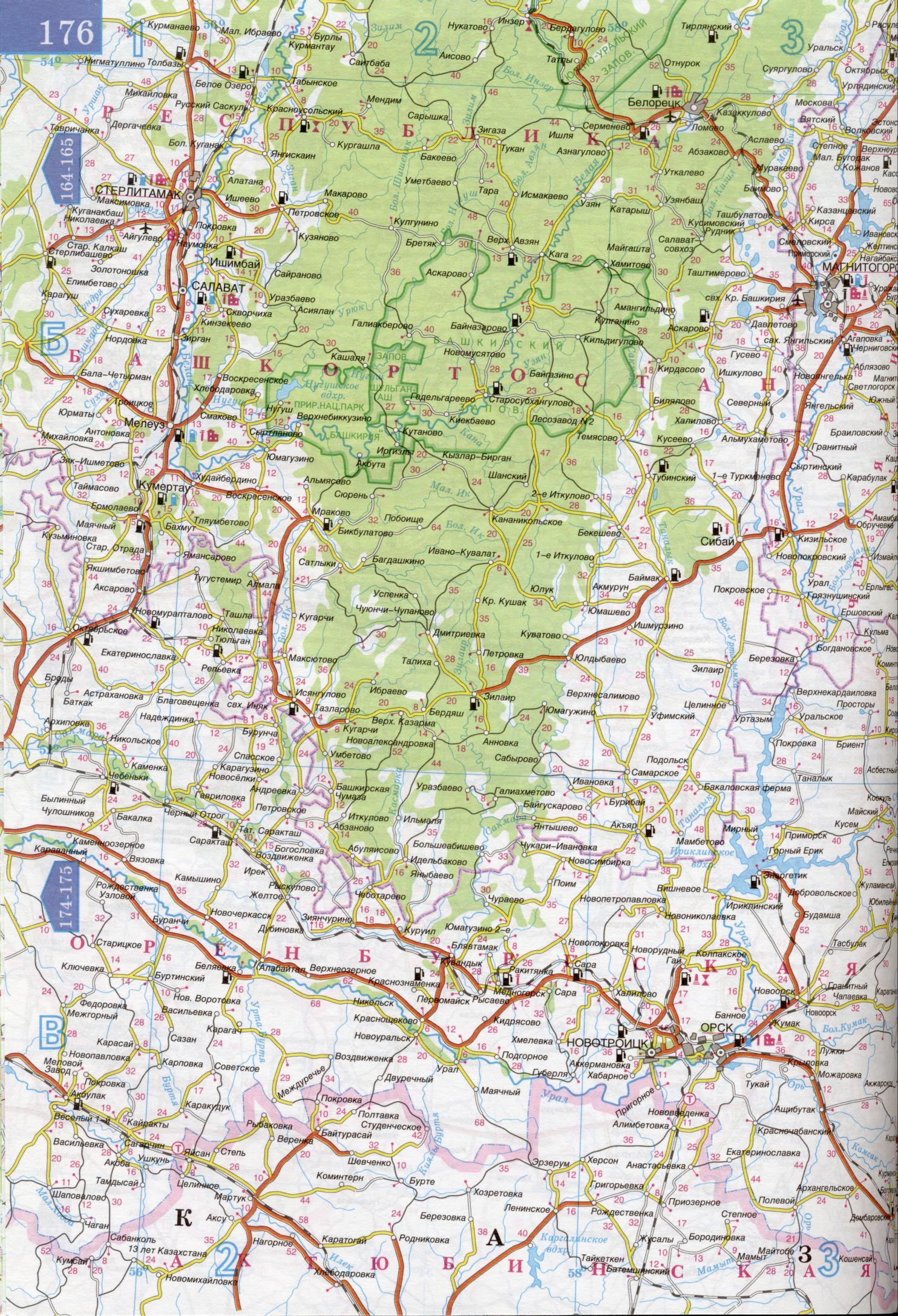 Карта Урала и Поволжья. Большая подробная карта авто дорог ...: http://map-auto.ru/map262472_2_2.htm