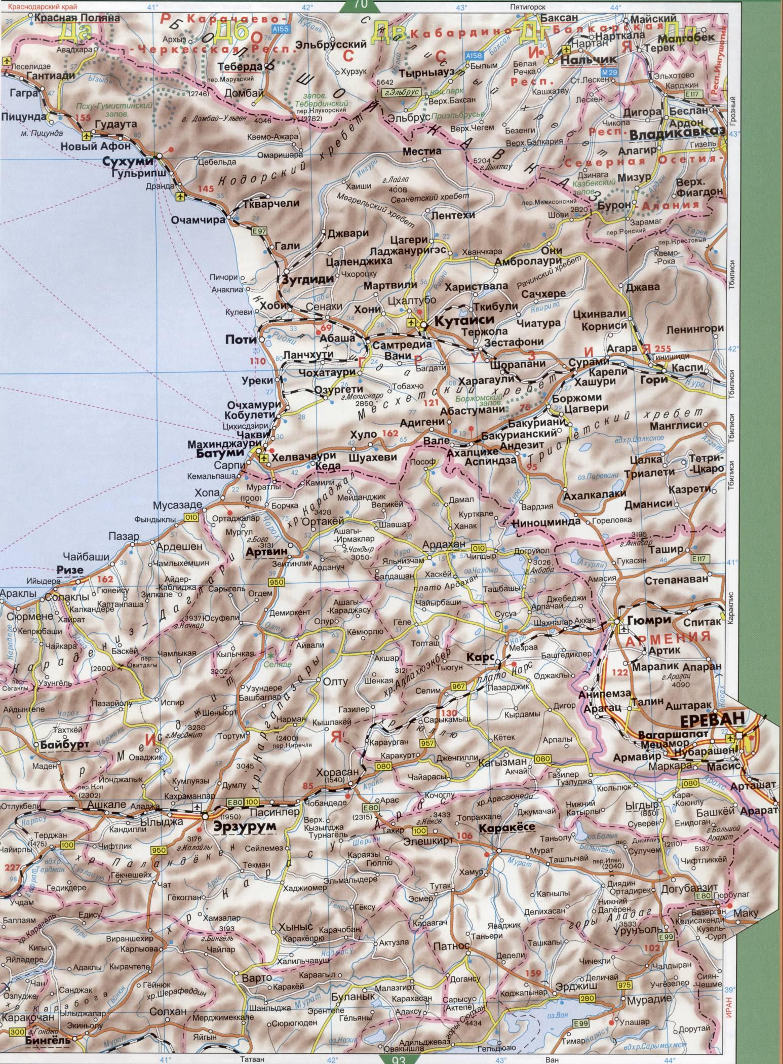 Карты автомобильных дорог европы на