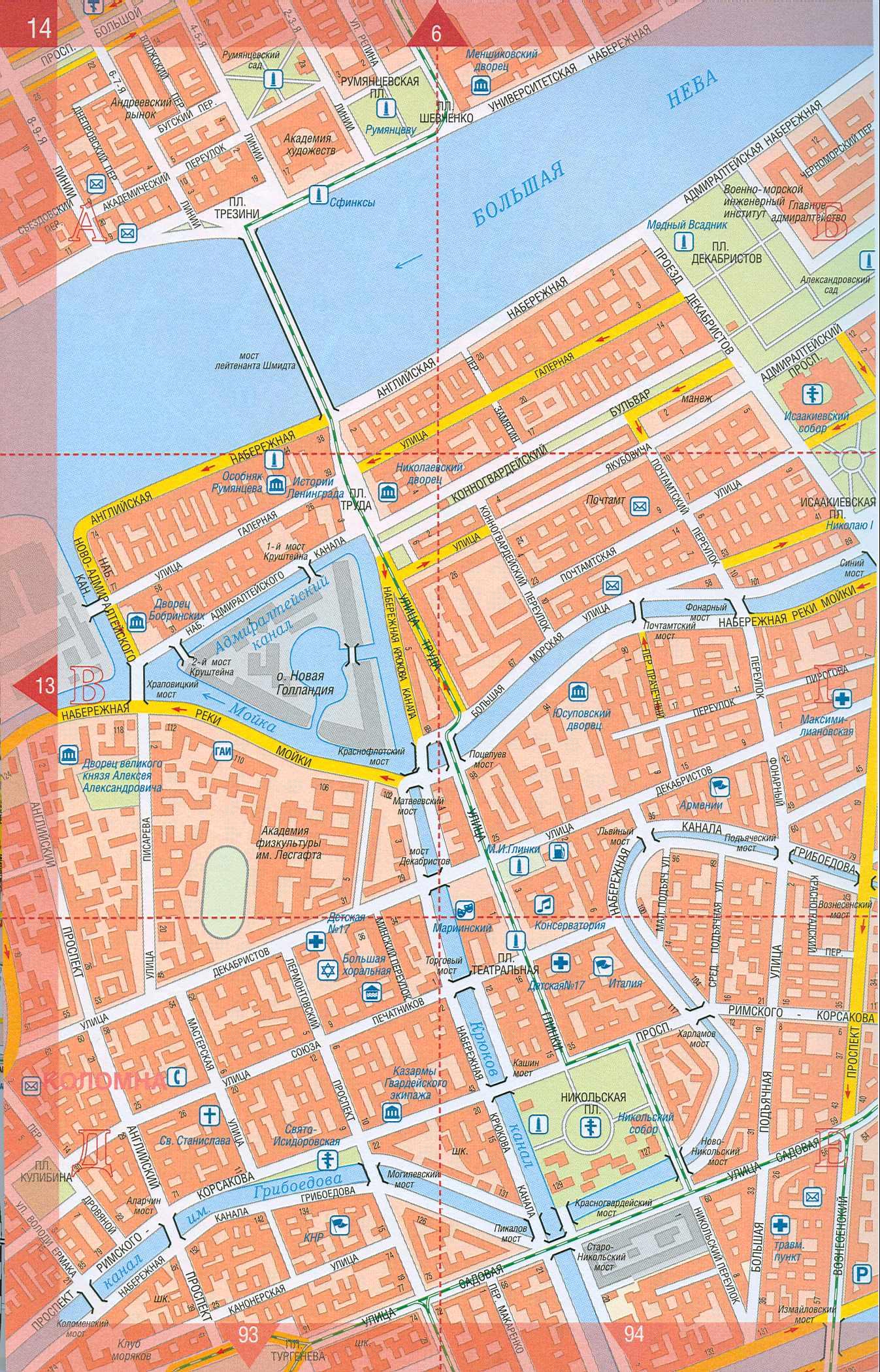 Карта Санкт Петербурга (центр города). Подробная карта СПБ ...: http://map-auto.ru/map265296_1_2.htm