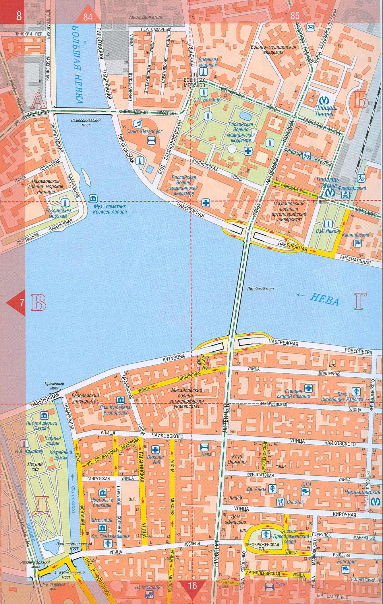 Карта санкт петербурга центр города