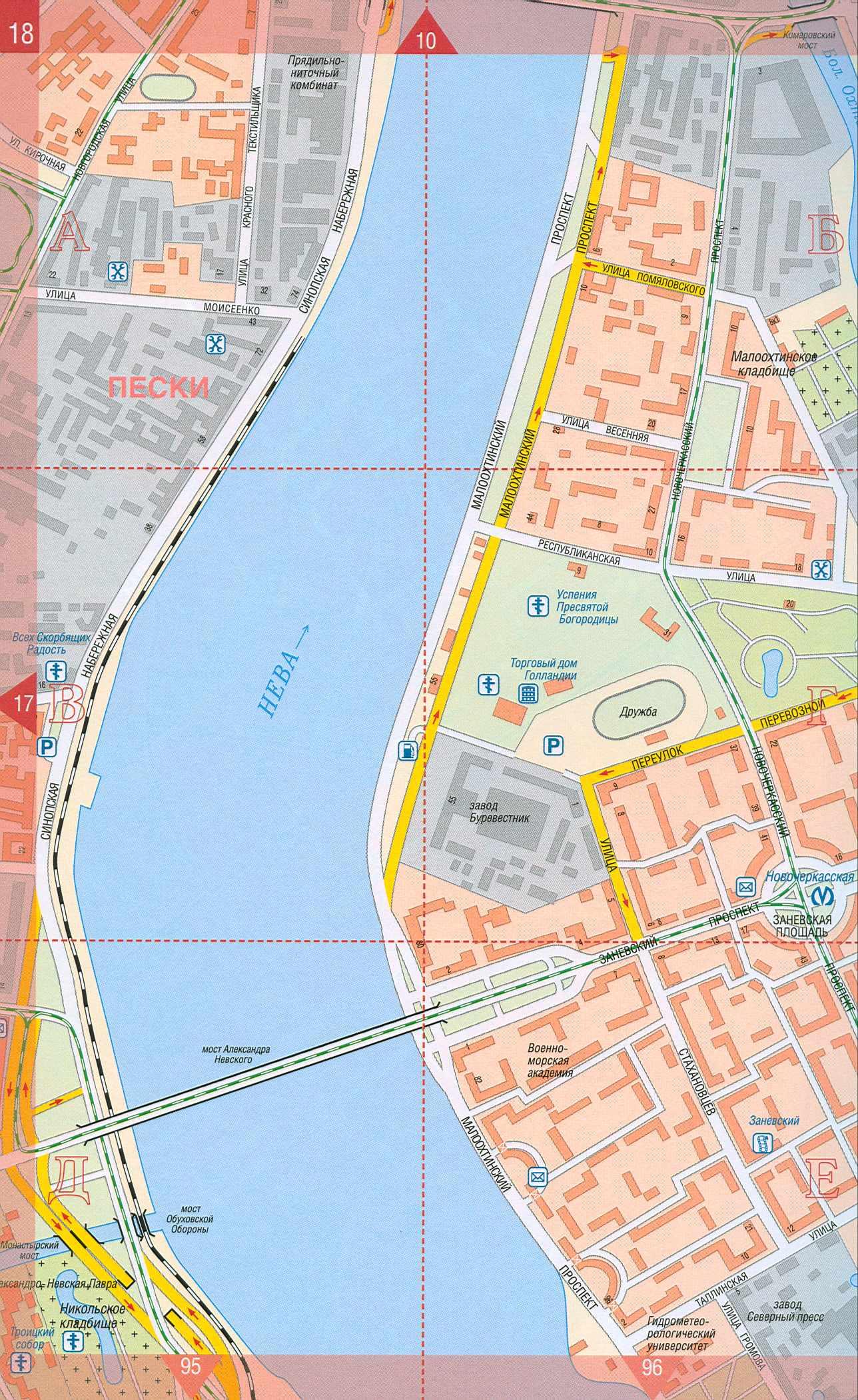 Карта Санкт Петербурга (центр города). Подробная карта СПБ ...: http://map-auto.ru/map265296_1_6.htm