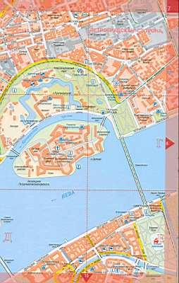 Подробная карта спб улицы питера 1см