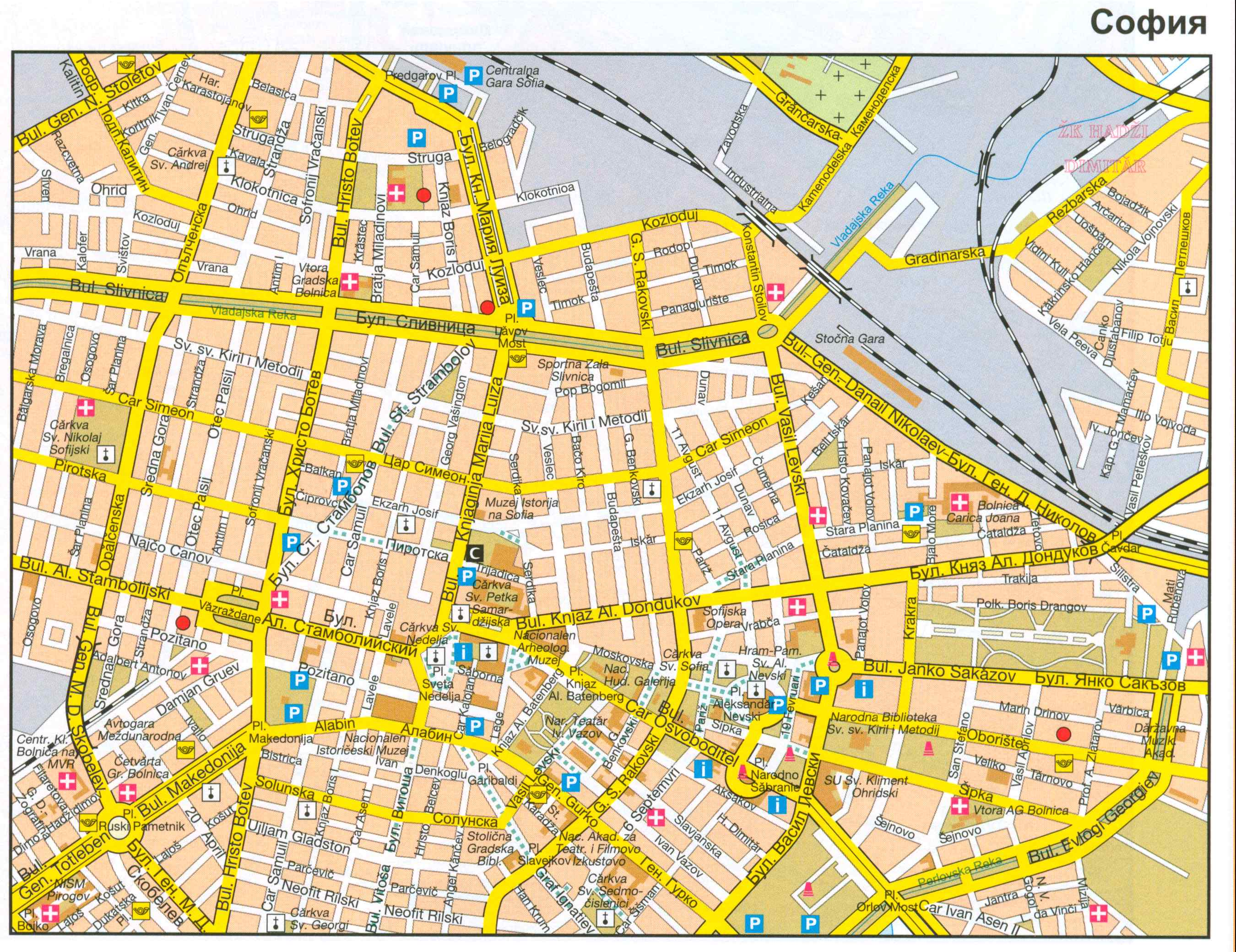Болгария карта софии подробная карта