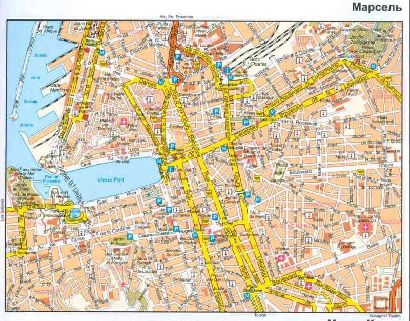 Франция карта марселя подробная