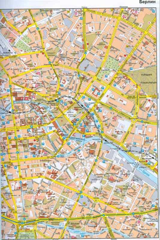 Берлина - план центра города
