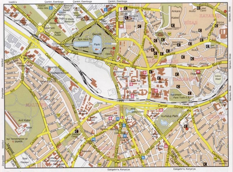 Турция карта анкары подробная карта