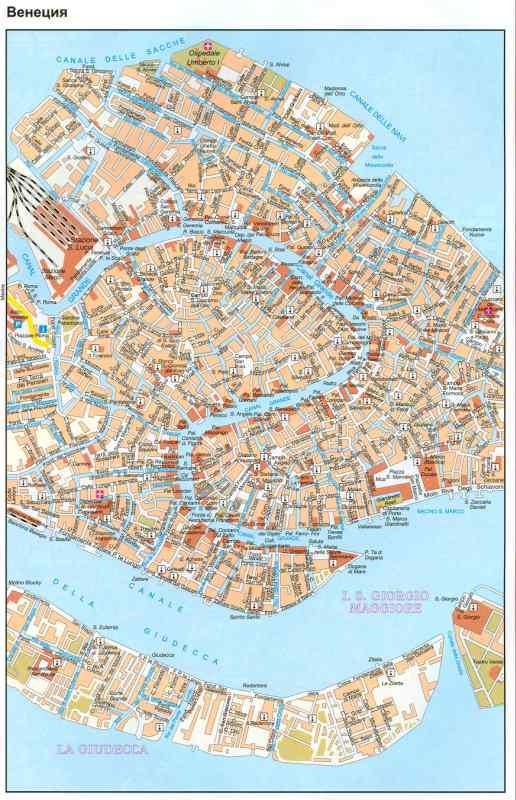 Italiya Karta Venecii Podrobnaya Karta Centra G Veneciya