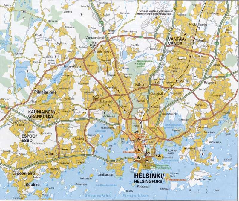 карта-схема дорог города