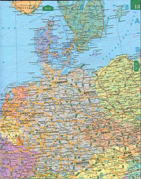 Карта дорог западной европы на