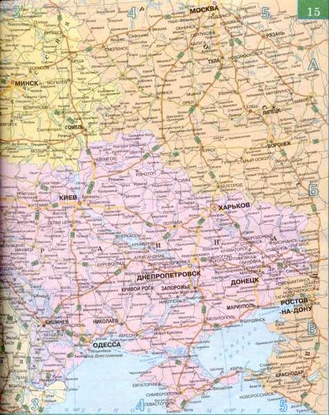 Карта федеральной трассы