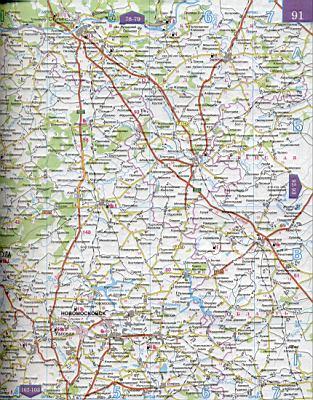 Карта московской области масштаба 1см