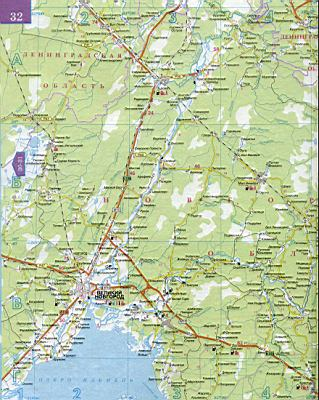 Карта Тверской области.