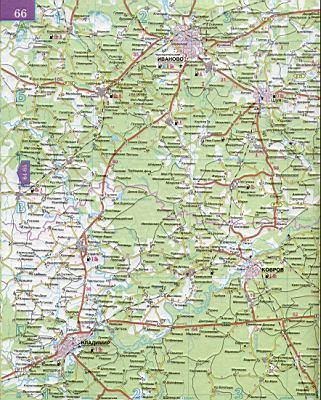 Карта авто дорог Владимирской