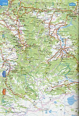 Карта красноярского края подробная