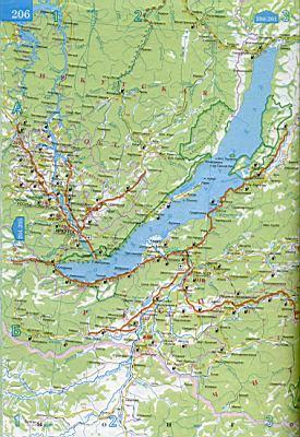 Карта иркутской и читиской областей