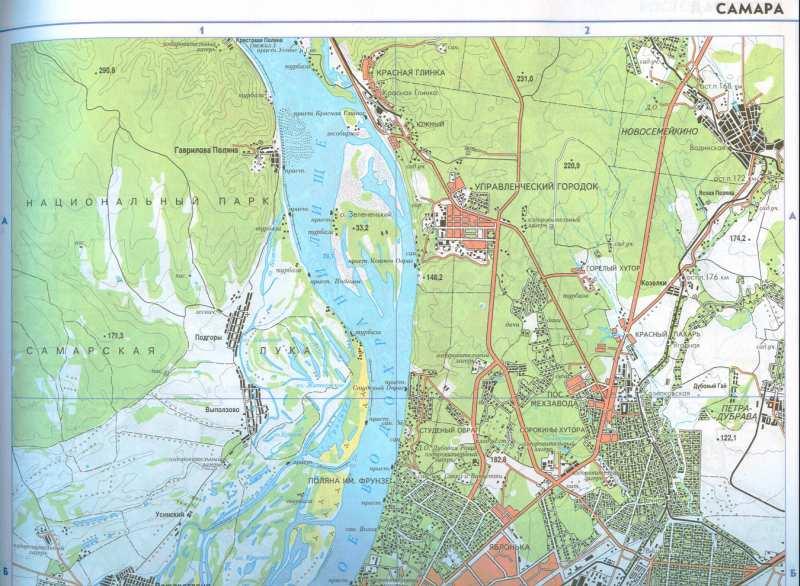 Карта города самара и окрестностей
