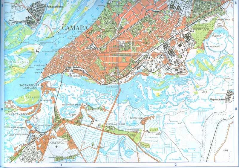 Карта самары областной центр