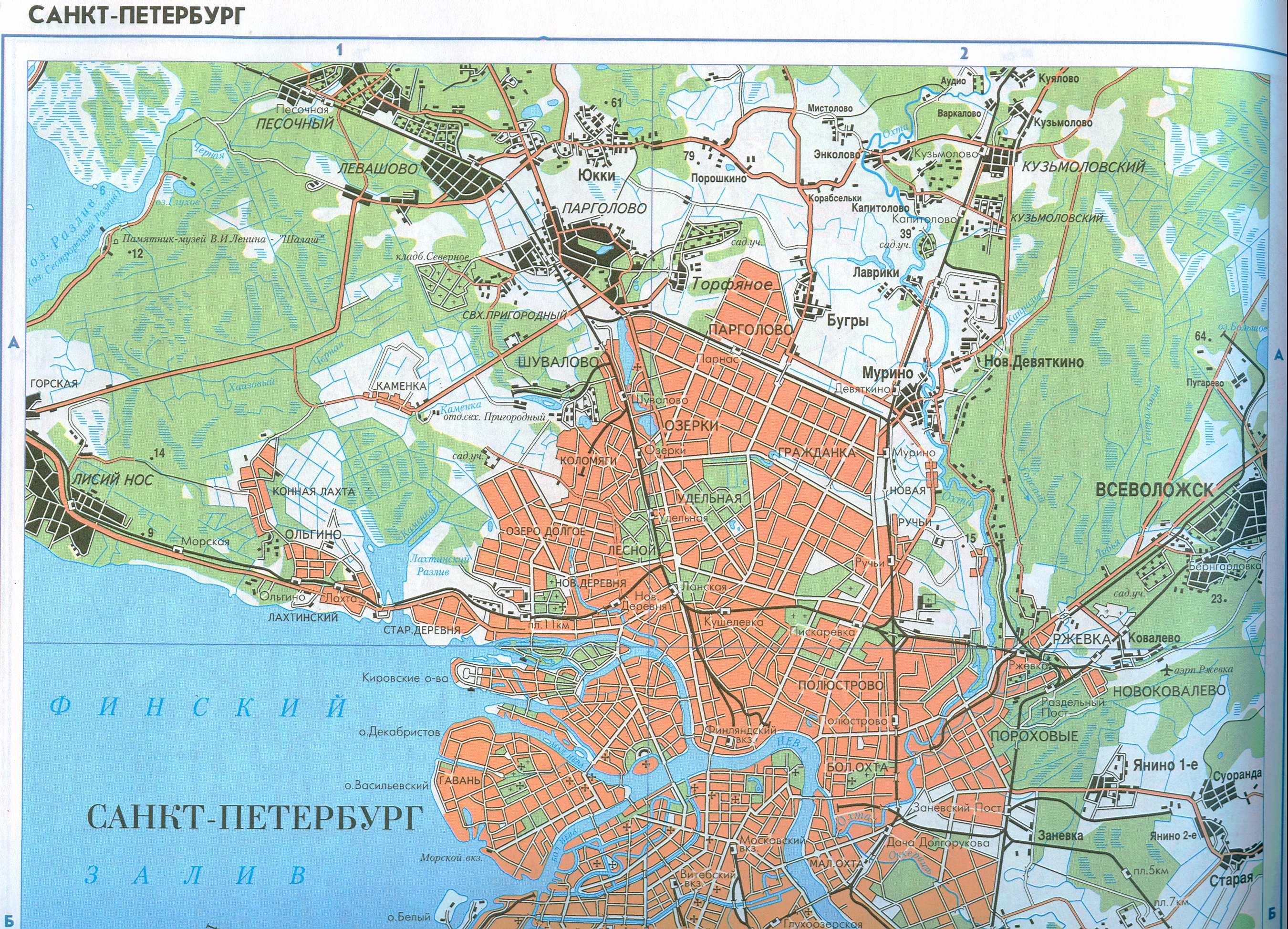 карта санкт-петербурга с достопримечательностями с фото