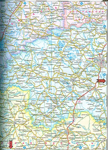 России. Карта авто дорог