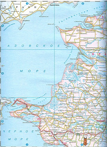 Карта Краснодарского края.