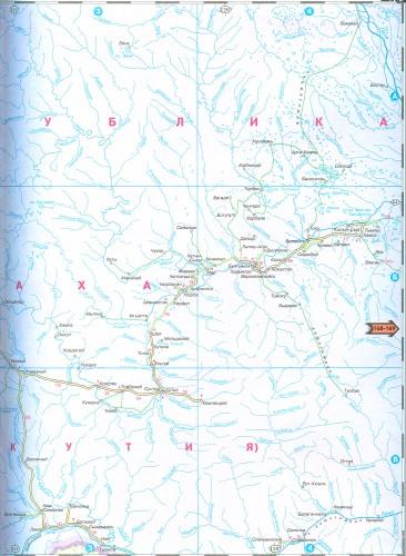 Большая карта дорог Читинской