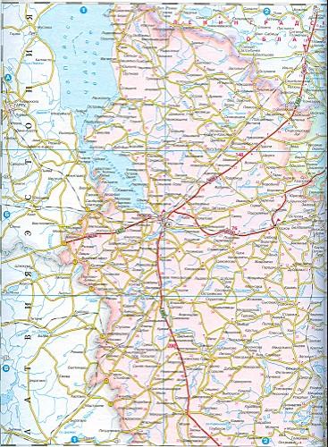 Карта псковской области подробная