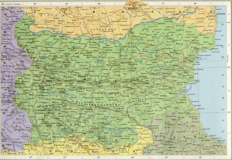 Карта болгарии восточная европа