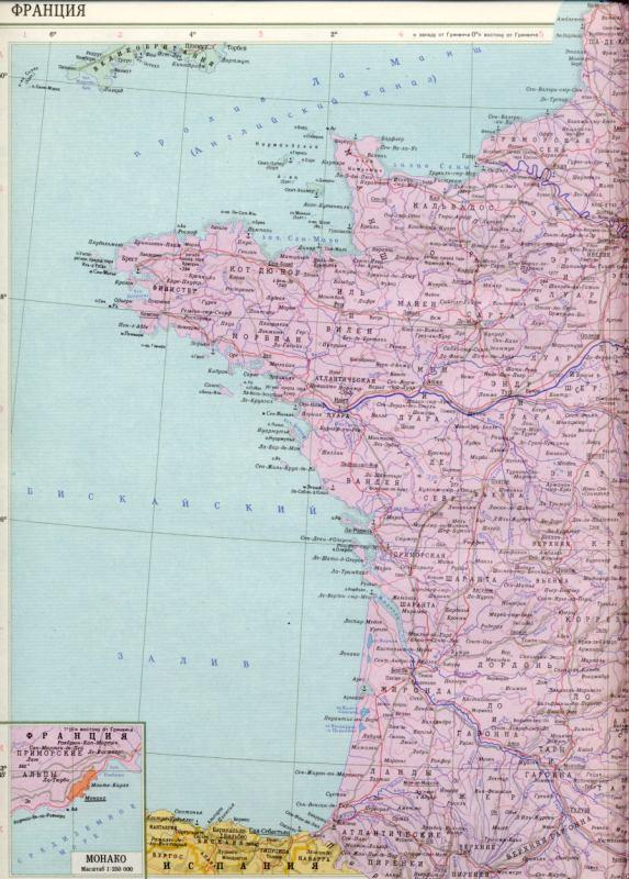 Франция карта политическая подробная