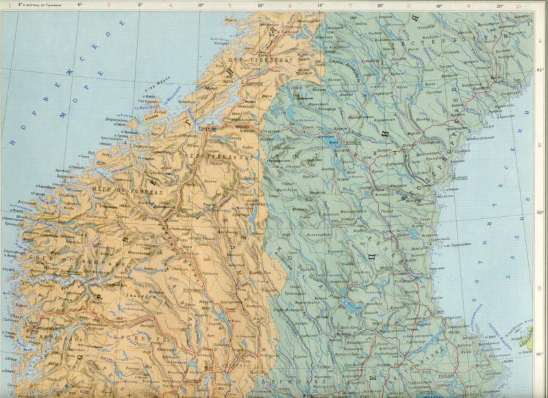 Карта дании швеции норвегии на