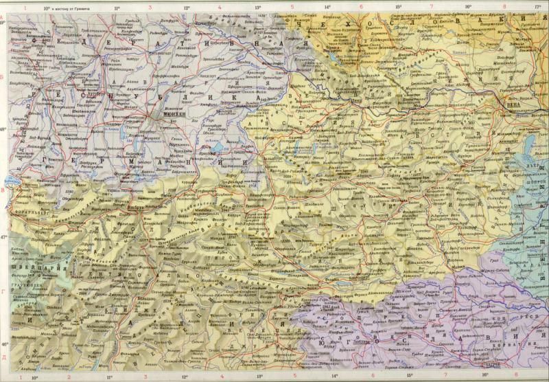Политическая карта подробная