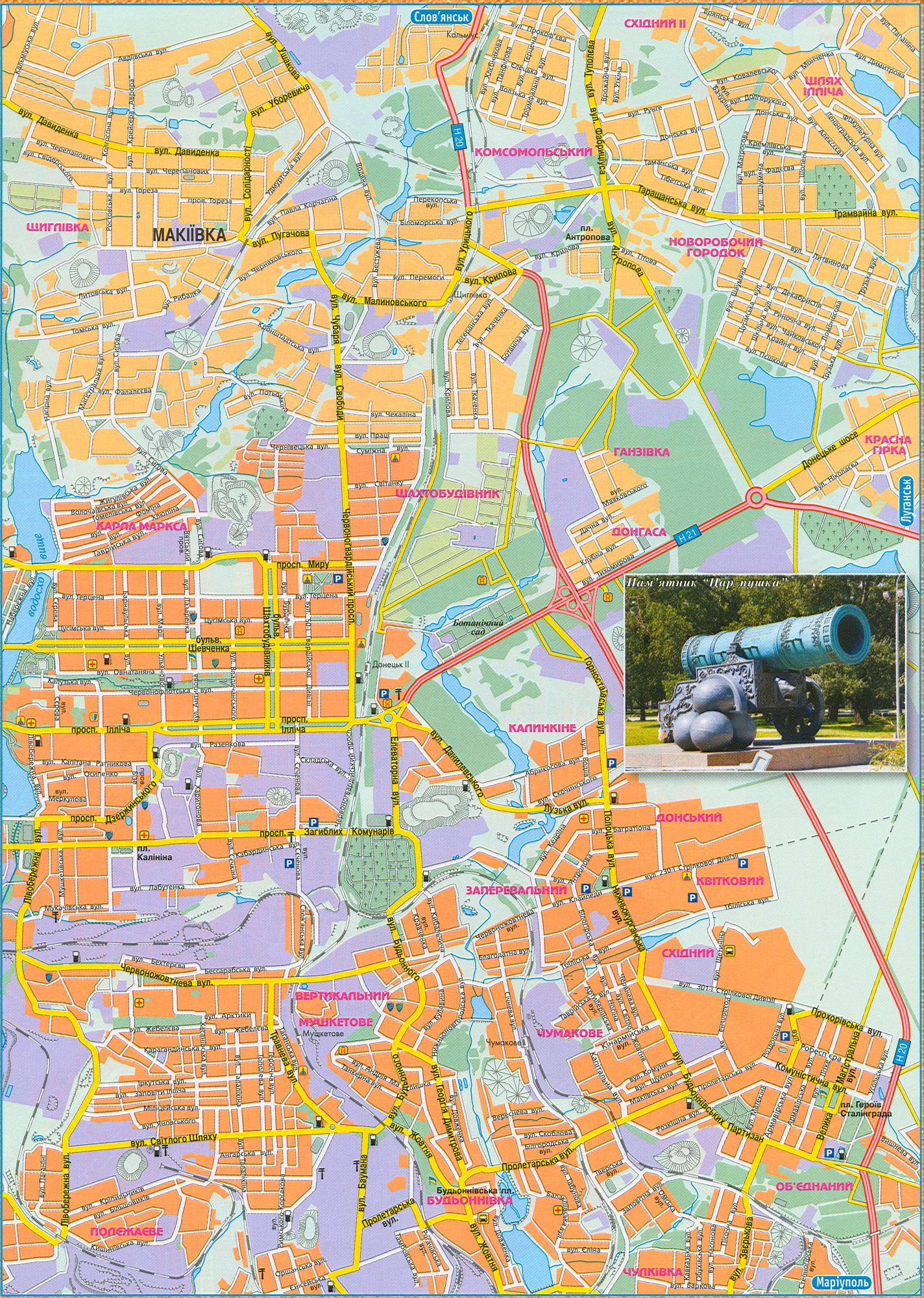 Украина, карта Донецка. Подробная карта автомобильных ...: http://map-auto.ru/map315419_0_1.htm