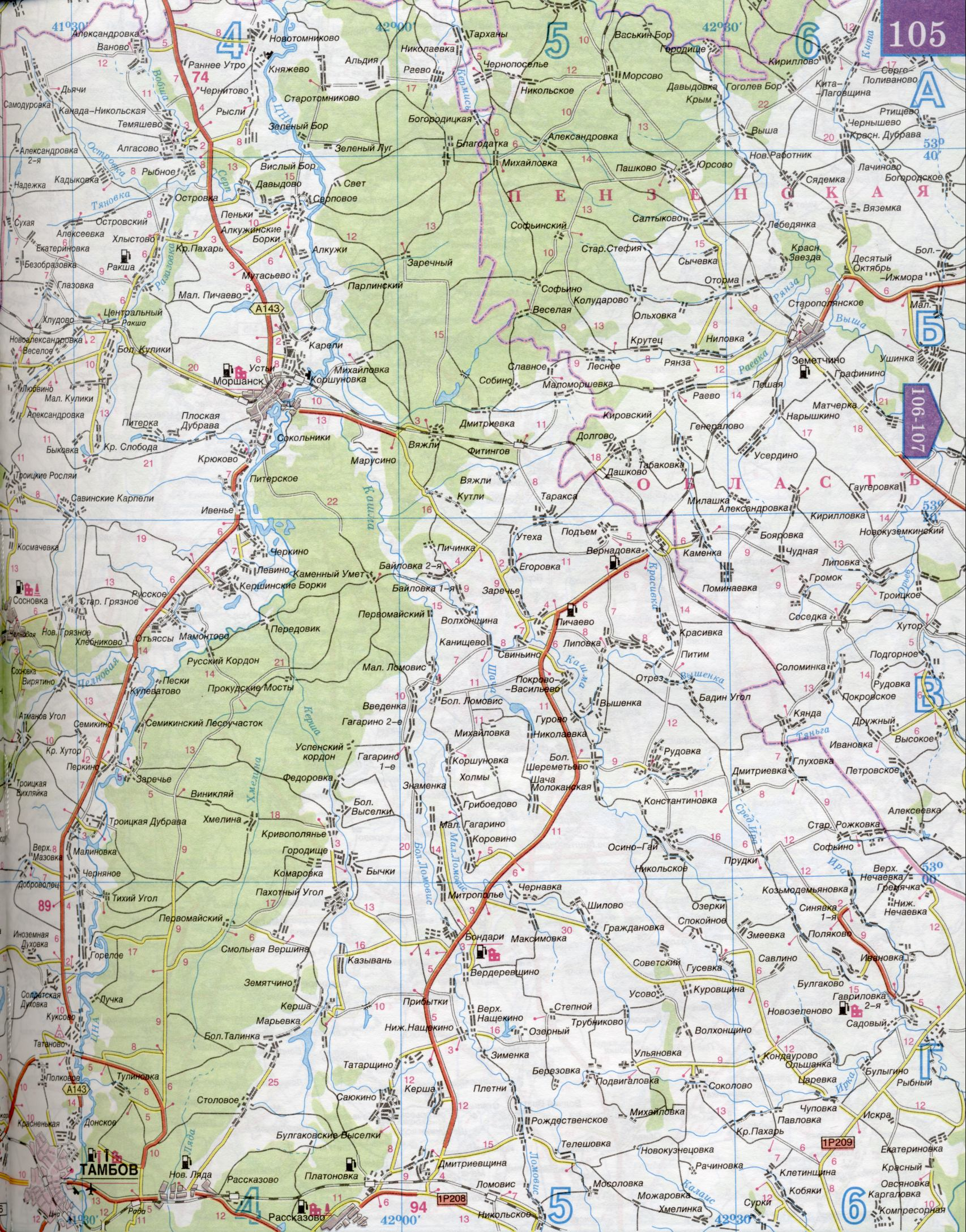 Карта Тамбовской области. Подробная карта автодорог ...: http://map-auto.ru/map316184_0_1.htm